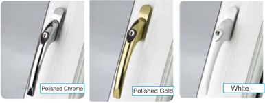 pvc window locking handle colours